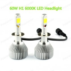 H1 Car LED Headlight 60W 6000LM 6000K 1SET