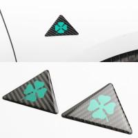 Alfa Romeo Quatrefoil Delta Carbon Fibre 3D Sticker