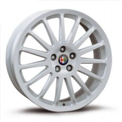 "Alfa Romeo 147 156 17"" 15 Spoke White Alloy Wheels x4 5901239"