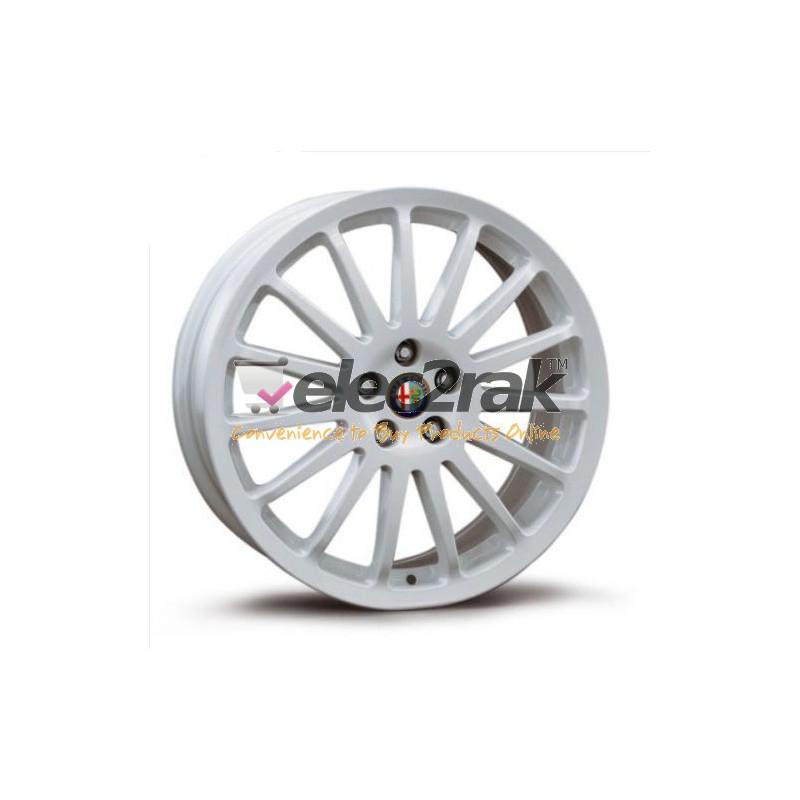 "Alfa Romeo 147 156 17"" 15 Spoke White Alloy Wheels X4 5901239"