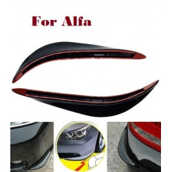 Car Bumper Scratches Protector Bar Corner Crash Bar PVC for Alfa Romeo 147 156 159 166 4C 8C Brera c